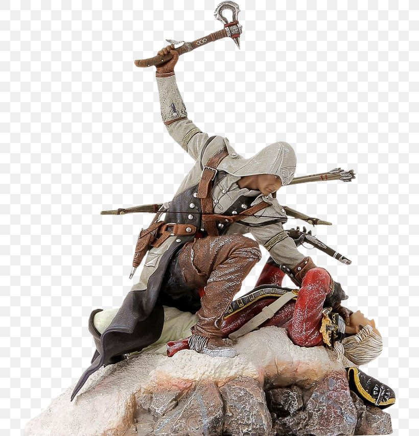 Assassin's Creed III Assassin's Creed IV: Black Flag Ezio Auditore Ubisoft, PNG, 733x854px, Ezio Auditore, Action Toy Figures, Assassins, Connor Kenway, Figurine Download Free