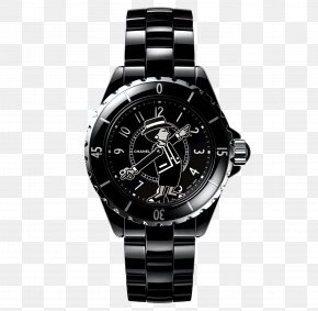 Coco Mademoiselle - Chanel J12 Coco Mademoiselle Jewellery Watch PNG