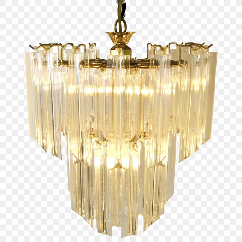 Chandelier Glass Brass Mid Century Modern Ceiling Png