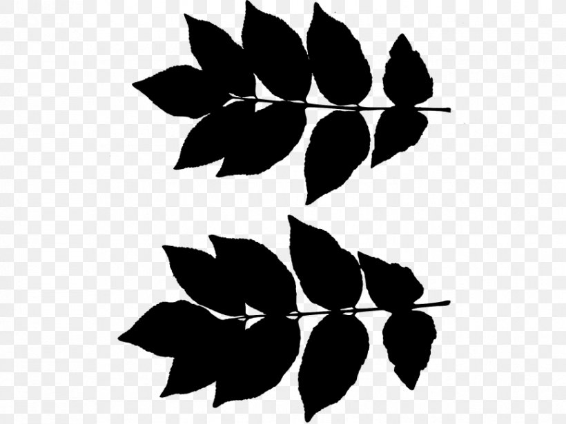 Flower Leaf Plant Stem Pattern Clip Art, PNG, 866x650px, Flower, Black, Blackandwhite, Botany, Branch Download Free