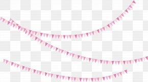 Pink Triangle Bunting - Pink Triangle Flag PNG