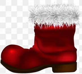 Santa Claus Boot Clip Art Image - Santa Claus Boot Christmas Clip Art PNG