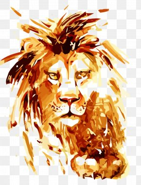Seguidores Watercolor - T-shirt Lion Leopard Tiger PNG