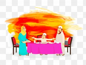 Vector Muslim Family - Royalty-free Iftar Illustration PNG