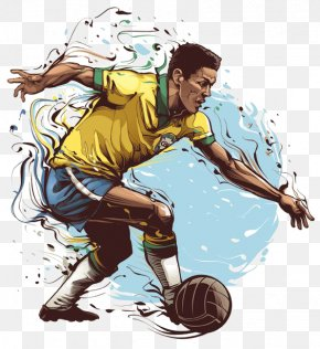 Watercolor Star - Brazil National Football Team 2014 FIFA World Cup Football Player PNG