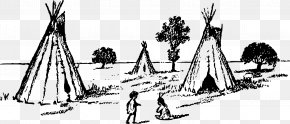 Teepee - Drawing Tipi Line Art PNG