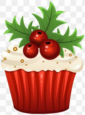 Christmas Muffin Clip Art Image - Muffin Cupcake Christmas Cake Clip Art PNG