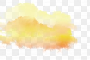 Color Cloud - Sunlight Sky Yellow Wallpaper PNG