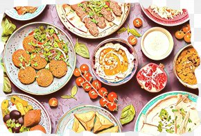 Korean Royal Court Cuisine Food Group - Eid Al Adha Islamic Background PNG