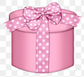 Pink Round Gift Box Clipart - Gift Box Pink Clip Art PNG