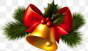 Christmas Transparent Golden Bell Clipart - Christmas Jingle Bell Clip Art PNG