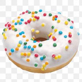 Donut - Royal Icing Baking Sprinkles Cake PNG