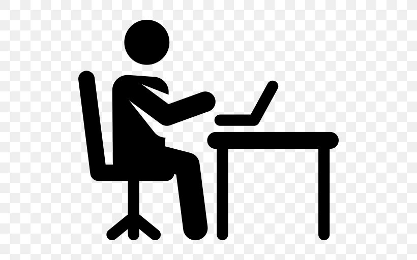 Office Clipart Working Png 512x512px Office Blackandwhite Chair Conversation Desk Download Free