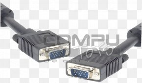 Vga Cable - VGA Connector D-subminiature Electrical Cable Computer Monitors PNG