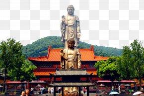 Jiangsu Attractions Mountain Giant Buddha - Grand Buddha At Ling Shan Lake Tai Yuantouzhu Spring Temple Buddha Ushiku Daibutsu PNG
