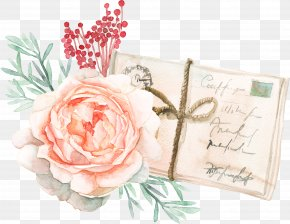 Postcard Watercolor Flowers - Easter Bunny Watercolor Painting Rabbit Clip Art PNG