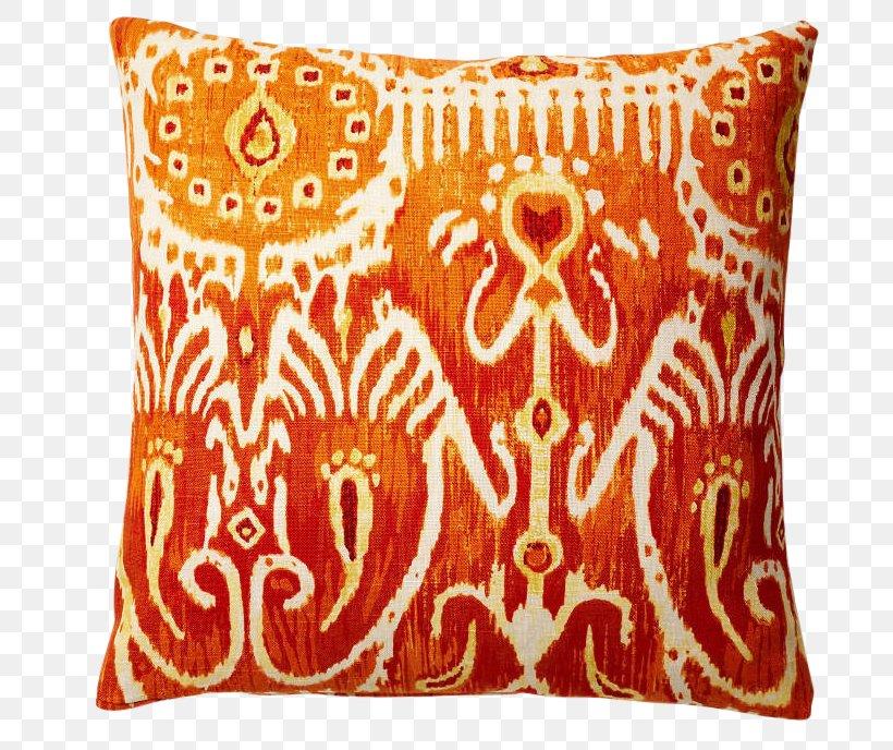 Orange Throw Pillows Textile Curtain, PNG, 688x688px, Orange ...