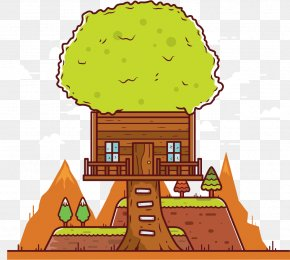 Vector Tree House - Tree Clip Art PNG