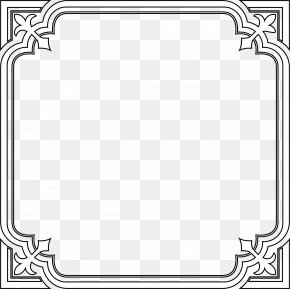 Black Frame Of Ancient Lines - Line Animation Geometry PNG