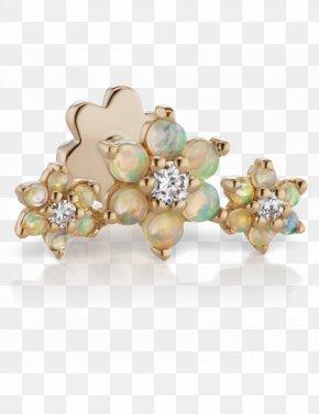 Rose Gold Opal Flower Ring - Earring Rook Jewellery Diamond PNG