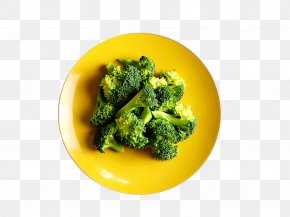 A Plate Of Broccoli - Broccoli Food Vegetable Eating Drinking PNG
