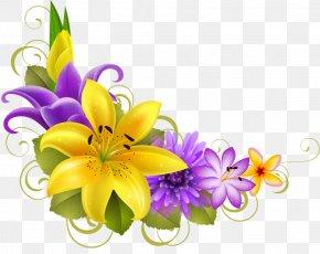 Borders And Frames Floral Design Flower Clip Art PNG