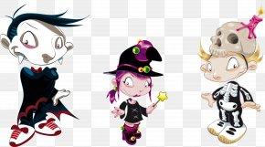 Vector Hand-painted Cartoon Character Play - Cartoon Royalty-free Illustration PNG