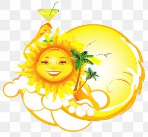 Summer Vacantion Sun Vector Clipart - Royalty-free Cartoon Clip Art PNG