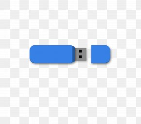 Blue USB Memory - USB Mass Storage Device Class Download PNG