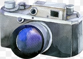 Camera - Camera Photography Photographer Watercolor Painting PNG