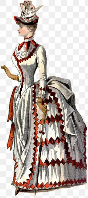 Victorian Woman - Victorian Era 1880s Bustle Victorian Fashion Clothing PNG