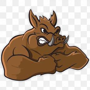 Wild Boar Cartoon - Wild Boar Vector Graphics Clip Art Illustration Image PNG