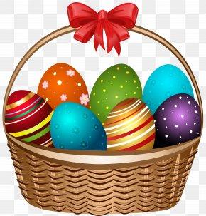 Easter Basket Transparent Clip Art Image - Easter Bunny Easter Basket Clip Art PNG