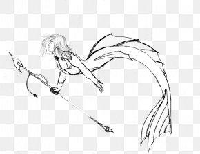 Ear - Line Art Figure Drawing Cartoon Sketch PNG