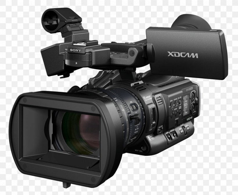 Sony XDCAM Video Camera High-definition Video, PNG, 1019x836px, Sony, Camcorder, Camera, Camera Accessory, Camera Lens Download Free