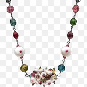 Necklace - Necklace Earring Bead Gold Garnet PNG