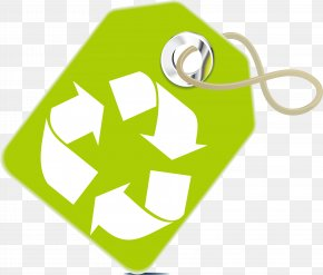 Green Triangular Loop Tag - Recycling Symbol Waste Container Icon PNG