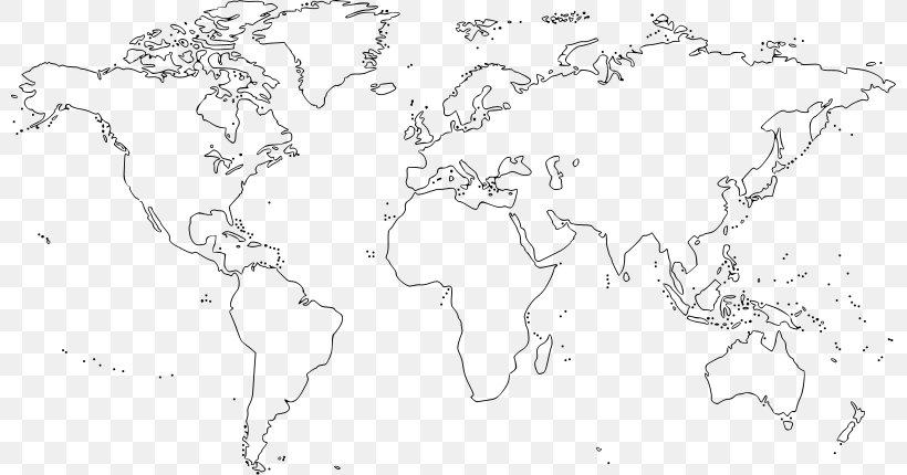 World Map Clip Art Png 800x430px World Area Artwork Black
