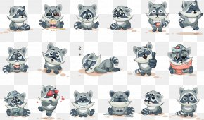 Vector Cartoon Raccoon - Raccoon Cartoon Drawing PNG