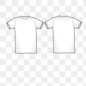 White T-shirt - T-shirt Shoulder White Collar Sleeve PNG
