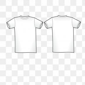 White T-shirt - T-shirt Shoulder White Collar Sleeve PNG