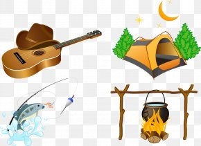 Vector Field Survival Element - Camping Outdoor Recreation Campfire Icon PNG