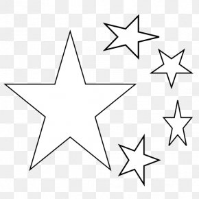 Star Line Art - Drawing Coloring Book Clip Art PNG