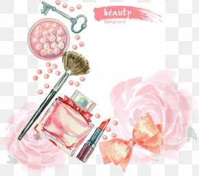 Vector Hand-painted Watercolor Cosmetics PNG