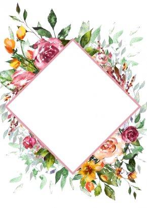 Flower - Flower Floral Design Watercolor Painting Wreath Art PNG
