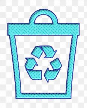 Turquoise Aqua - Basket Icon Bin Icon Recycle Icon PNG
