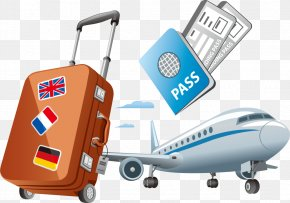 Vector Foreign Travel Passport - Air Travel Clip Art PNG