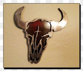 Texas Longhorn Metal Wall Decal PNG