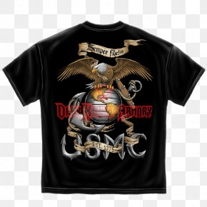 T-shirt - T-shirt United States Marine Corps Semper Fidelis Eagle, Globe, And Anchor PNG