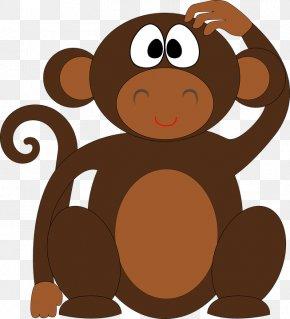 Monkey - Ape Chimpanzee Monkey Clip Art PNG